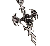 Man Necklace, Creative Cross Stainless Steel, Titanium Steel Pendant - The Bat Cross