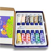 lok niños fu dedo coreano Choi pintura de 12 colores kit de herramienta de pintura de pigmento con el libro de puzzle agua no tóxica