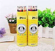 Advanced Core 24 Color Pencil Barrel Secret Garden Children'S Coloring Painting Graffiti Color Of Lead Reduced Pressure