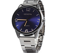 Men's Dress Watch Wrist watch / Quartz Alloy Band Casual Blue Silver