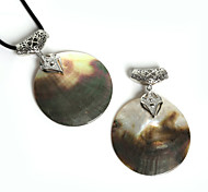 Beadia 60mm Vintage Big Natural Mother of Pearl Black Shell Pendant (1Pc)