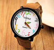 YAZOLE® Brand Women's Fashion Watch Quartz Casual Watch Leather Band Black / Brown Fashion Wrist Watch