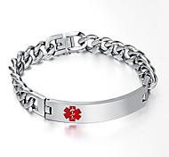 Men's Fashion Medical Mark Stainless Steel Bracelet