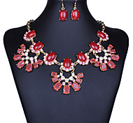 MPL Europa y los Estados Unidos establecen resina de la flor grande de la moda pendientes collar exagerada