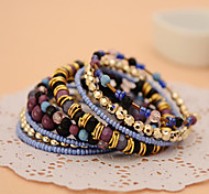Bohemia Style Purple Strand Bracelet Jewelry for Lady(7*7cm)