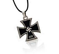Black Black Cross Pendant Necklace Many Military Belief