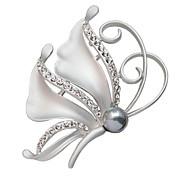 женщин кристалл бабочка полный горный хрусталь значки шарф пряжки моды Xmas подарок брошь