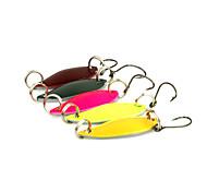 """5 pc Cucchiai Multicolore 3 g/1/8 Oncia,30 mm/1-1/4"""" pollice,MetalloPesca di mare / Spinning / Pesca a jigging / Pesca di acqua dolce /"""