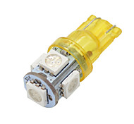 4x t10 168 ámbar alto poder amarilla 5050 chip de interior 5 llevó bombillas W5W 194