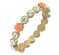 Simple Model Rhinestone Resin Flower Magnetic  Bracelets