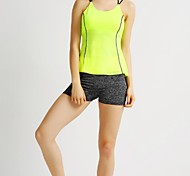 MIDUO Sports Women's Breathable Running Tops Yellow-YAS 003