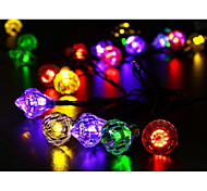 Waterproof 5M 20LED Solar Diamond Christmas LED String Lights