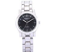 REBIRTH Women's Simple Fashion Silver Alloy Strap Quartz Casual Wrist Watch