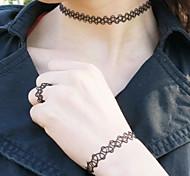 3 Stück amerikanische Schmuck-Linie elastisch gewebten Hohl Ring Halskette Armband