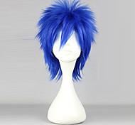 Parrucche Cosplay Fairy Tail Mystogan Blu Corto Anime Parrucche Cosplay 35 CM Tessuno resistente a calore Uomo