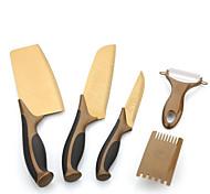 Five-Piece Kitchen Knife Sets Knife Rose Titanium Stainless Steel Kitchen Knives  Gift Set
