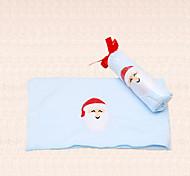 1pc Santa Claus Embroidery Blue Christmas Towel Microfiber Bath Shower Pary Supplies