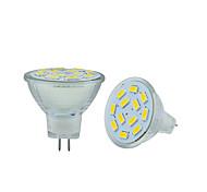 6W GU4(MR11) Luminárias de LED  Duplo-Pin MR11 12 SMD 5730 570 lm Branco Quente / Branco Frio Decorativa DC 12 V 2 pçs