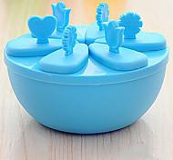 6 Creative Kitchen Gadget Plástico Utensílios de Gelado