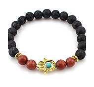 Women Alloy Black Hand Strand Bracelets