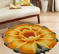 Country Style 1PC Polypropylene Area Rug Floral Pattern