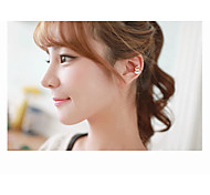 Women's Adorable Red Alloy Clip-On Clip Earrings 1 pair