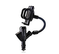 New Dual USB Car Charger Mobile Phone Holder Car Cigarette Lighter