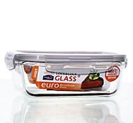 LOCK&LOCK 1/set Kitchen Kitchen Glass Lunch Box 175*130*64mm LLG428