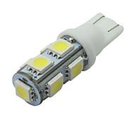 6 piezas blanca t10 9-SMD 5050 llevaron la licencia luz de la placa del bulbo W5W 2825 194 192 168 12v