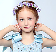 Flower Girl's Purple Rose Flower Wreaths for Wedding Party Hair Jewelry