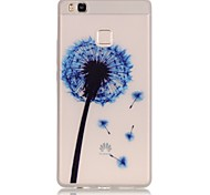 TPU material The New Blue Dandelion Trees Pattern Luminous Phone Case for Huawei P9Lite/P9/P8Lite/Honor 5X