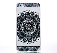 TPU Material Black Bilateral Flower Pattern Cellphone Case for Huawei P9Lite/P9/P8Lite