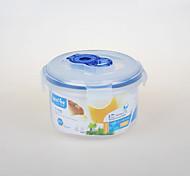 recipiente yooyee plástico redondo com o recipiente a vácuo tampa (0.6L)
