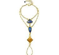 Resin Stone Chain Link Ring Bracelets