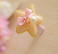 Women's Flower Girl's Fabric Stars Hair Clip