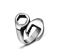 Men's Ring Punk Tools 316 Titanium Steel Ring Statement Rings Casual 1pc Silver Rings Fashion Jewelry Gift