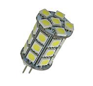 2X G4 Pure White 27SMD LED 5050 Car Cabinet RV Boat Crystal Light Bulb DC 12V US