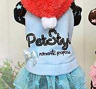 Dog Hoodie / Dress Blue / Pink Winter Letter & Number Keep Warm, Dog Clothes / Dog Clothing