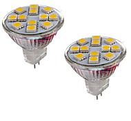 6W GU4(MR11) Luminárias de LED  Duplo-Pin MR11 12 SMD 5050 600 lm Branco Quente / Branco Frio Decorativa DC 12 V 2 pçs