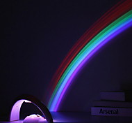 Fashion Creative ABS Button Type LED Multicolor Rainbow Projection Lamp