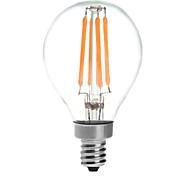 4 E14 Круглые LED лампы G45 4 COB 380 lm Тёплый белый Водонепроницаемый AC 220-240 V 1 шт.