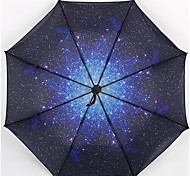 Star Black Color Folding Umbrella Vinyl Umbrellas Outdoor Umbrella Sunny Umbrellas Customized