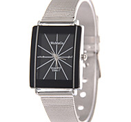 Women's Fashion Quartz Casual Watch Square Alloy Dial Stainless Steel Belt Watch Cool Watch Unqiue Watch Classic Watch