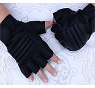 Man PU Half Gloves Fitness Outdoor Waterproof Leather Gloves Black Hawk Riding Tactical Motorcycle Gloves