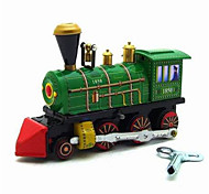 The Locomotive Wind-up Toy Leisure Hobby  Metal Green For Kids