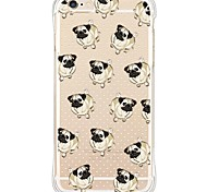 Dog Back Anti shock/Dust Free/Waterproof/Transparent TPU Soft Case For i6s Plus/6 Plus/6s/6/SE/5S/5