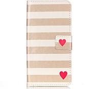Tuta portafoglio / A portafoglio / Capovolgere Stripes / Ripples Similpelle Difficile Copertura di caso per Apple iPhone 7 / iPhone 7 Plus
