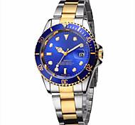 Муж. Модные часы Наручные часы Кварцевый Календарь Фосфоресцирующий Нержавеющая сталь Группа Повседневная Люкс Серебристый металл