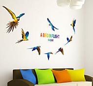 Животные Наклейки Простые наклейки Декоративные наклейки на стены,PVC материал Положение регулируется Украшение дома Наклейка на стену