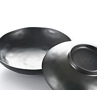 upscale japonês artes utensílios de mesa de melamina fosco tigela de papelão ondulado preto melamina mesa